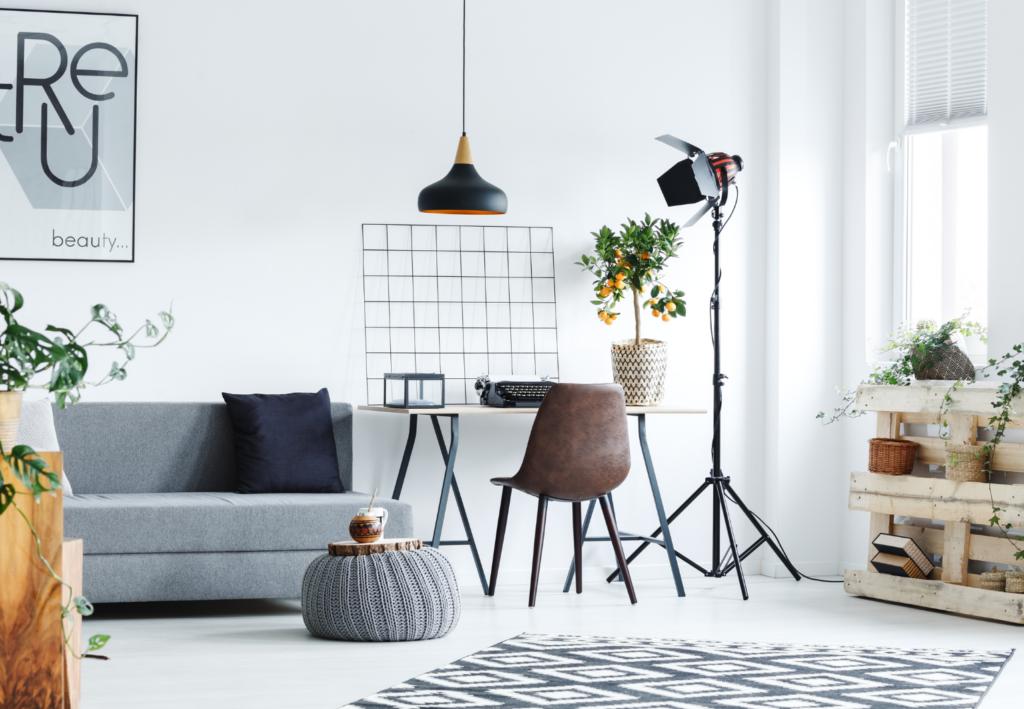 ideas area de trabajo, decoración área de trabajo, iluminación home office